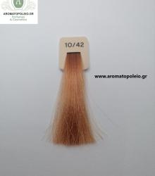Inebrya - Βαφή μαλλιών 100ml – Ανοικτό Πλατινέ Κονιάκ Ξανθό 10/42