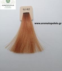 Inebrya - Βαφή μαλλιών 100ml –Πολύ Ανοικτό Κονιάκ Ξανθό 9/42